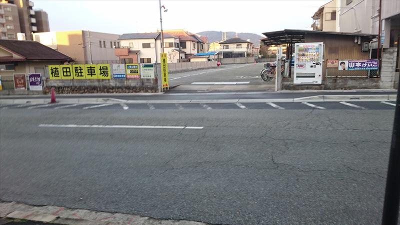 植田駐車場は広くて止めやすいよ