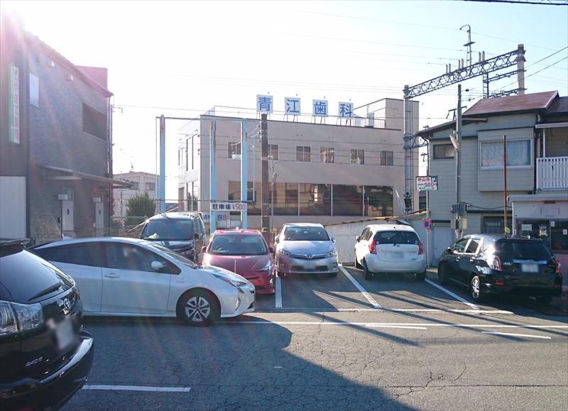 山手薬局の横駐車場