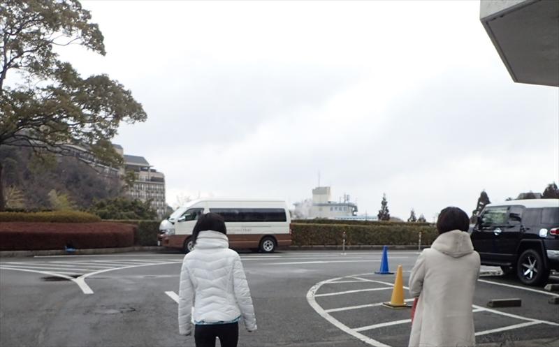 Arima Grand Hotel parking lot